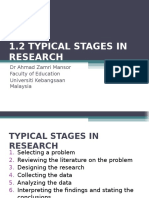 1.2 Typical Stages in Research