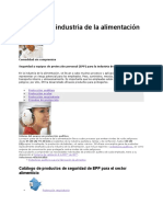 EPP Para La Industria de La Alimentación