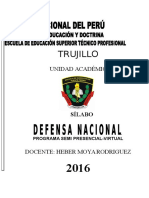 Silabo Defensa Nacional 1