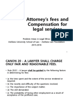 D - Attorney's Fees and Compensation for Legal Services
