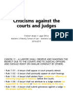 M - Criticisms Against the Courts Judges Justices