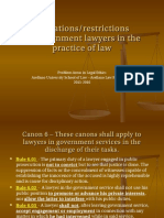 I - Restrictions of Government Lawyers
