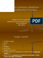 R - Grounds for Voluntary Inhibition and Disqualification of Judges
