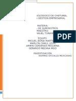 normas oficiales mexicanas CADENA DE SUMINISTRO.docx