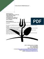 Recetas Del Curso Galletas Dulces y Adrnos Navideños Chef Marcela Sanchez