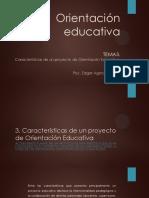 Tema 3. Características de Proyecto de Orientación