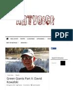 Green Giants - David Kowalski