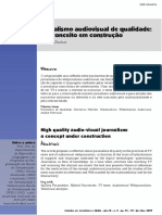 BECKER, Beatriz. Jornalismo Audiovisual de Qualidade.