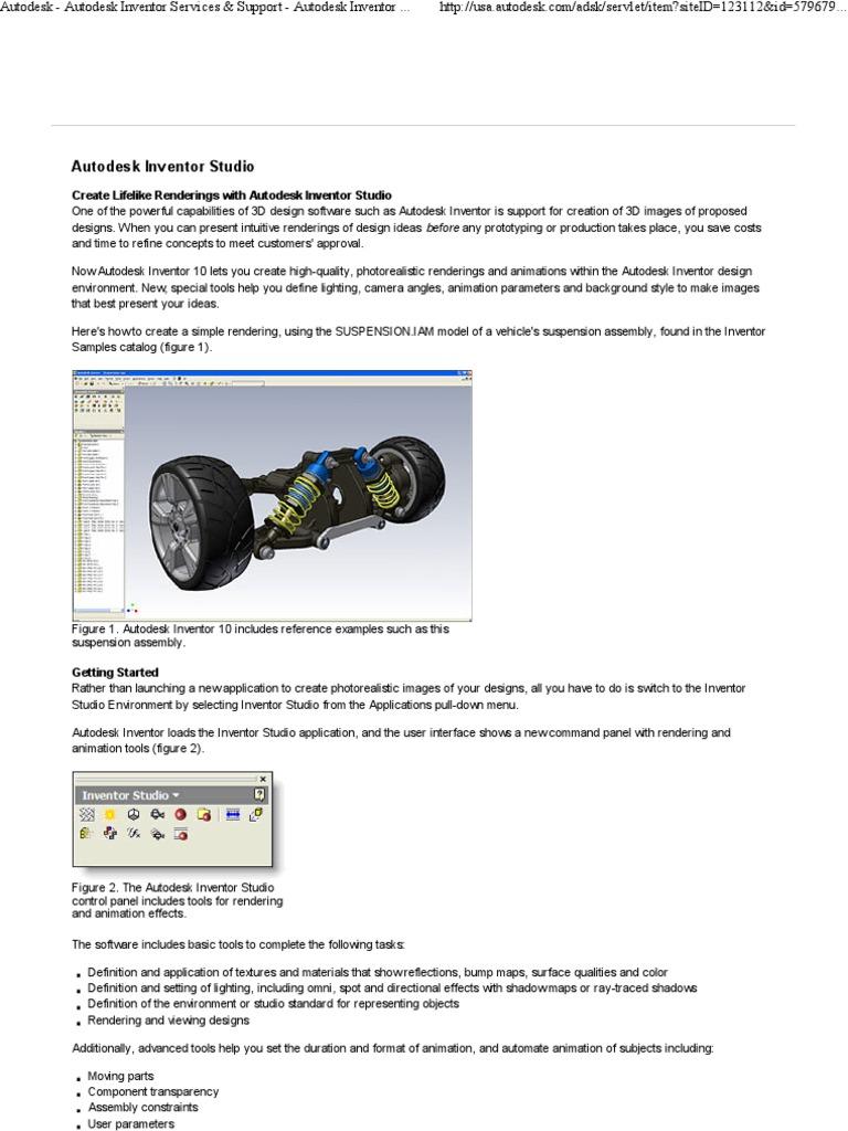 Autodesk Inventor - Autodesk Inventor Studio | Rendering