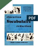 Berthou Gremaux Voegele Langue Francaise Vocabulaire Redaction CE2 CM1