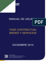 Fase Contractual Bienes y Servicios - Entidades Contratantes