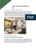 Pengertian Desain Interior Dan Eksterior Serta Aspeknya