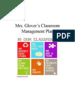 mrs  glovers classroom management plan