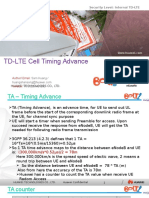 TD-LTE Cell Timing Advance