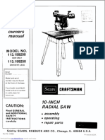 RADIAL ARM SAW 113199200_owners_manual