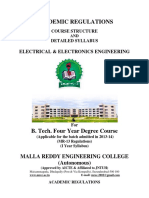 MREC MR13 BTech EEE Syllabus Book