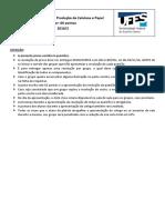 Exercícios - papel e celulose