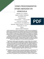 Promociones Procedimientos Indepabis Abogado en Venezuela