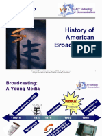 history of broadcast