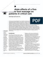 Immediate Effects of a Five-minute Foot Massage on Patients in Critical Care
