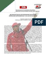 Declaracion Politica a.r.c.g. Nov. 2016
