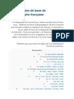Les 40 Règles de Base de l Orthographe Française