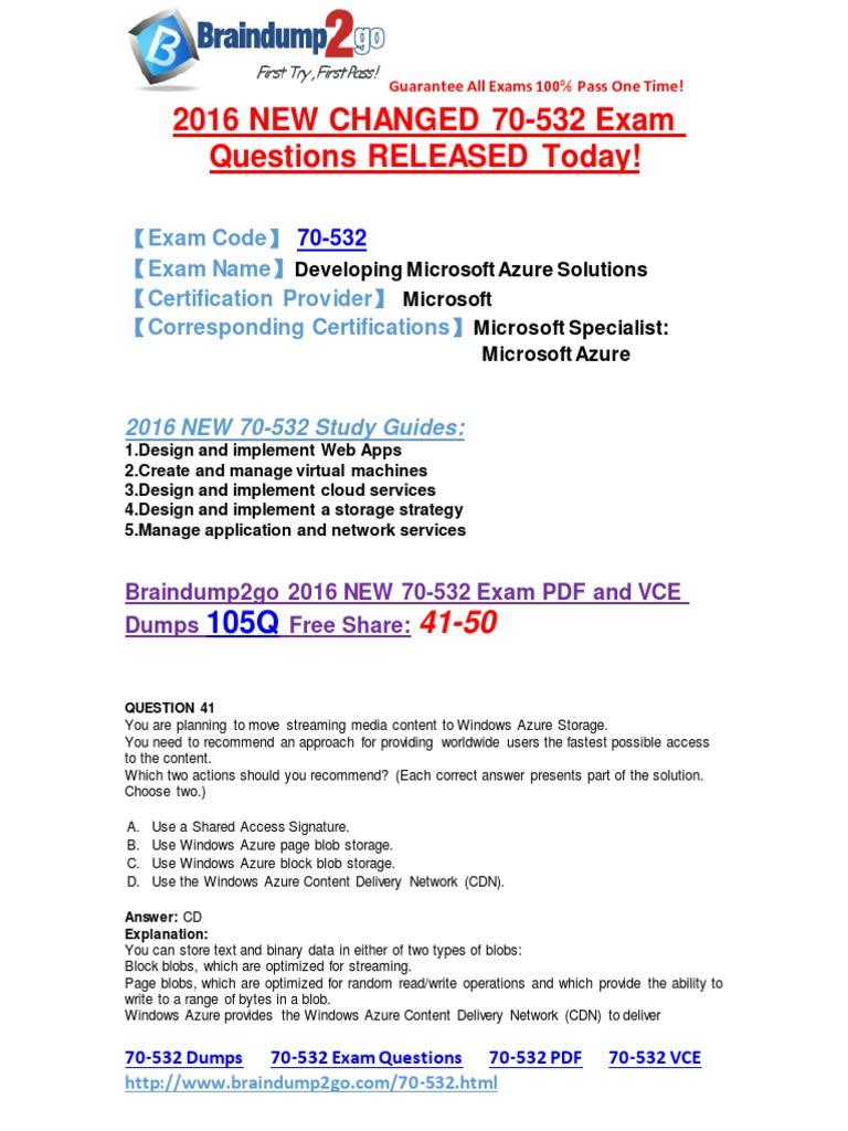 Microsoft 70 532 Exam Questions 102q Pdf Free Download Microsoft