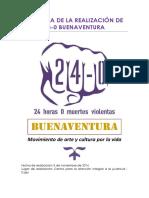 Memoria de La Realización de 24-0 Buenaventura _ 2016 (v1)