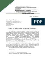 Carta de Aprobación Del Tutor Académico Servicio Comunitario