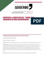 Entrevista a Judith Butler