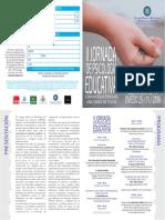 Diptico Jornada Educativa 2016