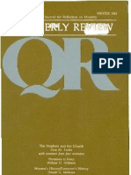Winter 1981-1982 Quarterly Review - Theological Resources for Ministry