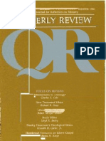 Winter 1986-1987 Quarterly Review - Theological Resources for Ministry
