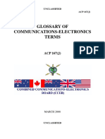 Glossary of Electronics and Communications Terms