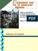 VERTIGO-DIZZINESS AND TINNITUS IN WHIPLASH INJURIES (INTRODU