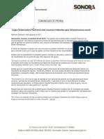 08-11-16 Logra Gobernadora Pavlovich más recursos federales para infraestructura social. C-111632