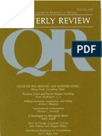 Winter 1987-1988 Quarterly Review - Theological Resources for Ministry