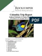 Trip Report Colombia Birding Trip Report 2011