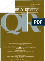 Winter 1990-1991 Quarterly Review - Theological Resources for Ministry