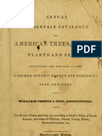 (1832) Annual Wholesale Catalogue of American Trees, Shrubs, Plants & Seeds