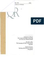 Winter 1992-1993 Quarterly Review - Theological Resources for Ministry