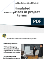 Simulated Enterprises in Project Terms