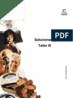 Solucionario Clase 15 Taller III 2016 CES
