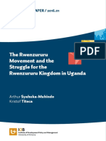 The Rwenzururu Movement and the Struggle for the Rwenzururu Kingdom in Uganda