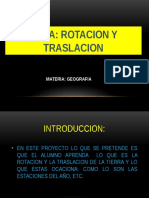 Rotacion y Traslacion