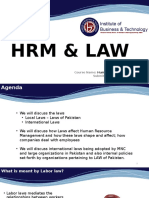 HRM n LAW international and Pakistan Laws