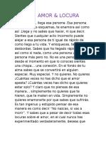 Amor Y Locura-Laura Posada 8°2