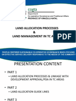 TC Land Allocation Process