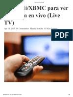 Como Ver TV Con Kodi