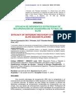 SN048Eficacia de Diferentes Estrategias de Recuperación en Jugadores de Fútbol de Elite